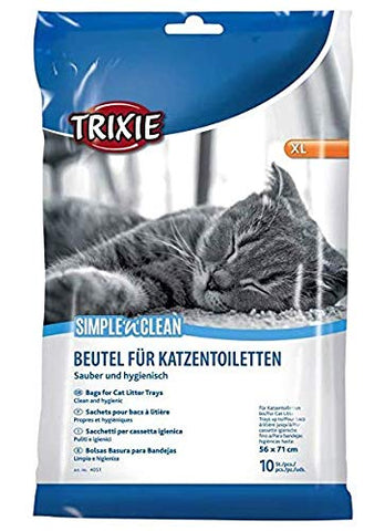 Trixie Litter Tray Bags XL up to 56 × 71 cm 10 x 6 Packs - 60 Bags - Bulk Buy 6 Pack (60 Bags)