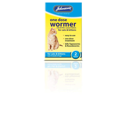 Johnson's One Dose Wormer for Cats and Kittens, 2-Piece