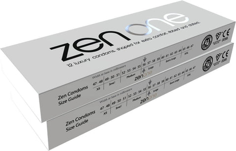 24 Luxury Ribbed & Dotted Condoms. Extra Lubrication - Zen Condoms (2 Packs)