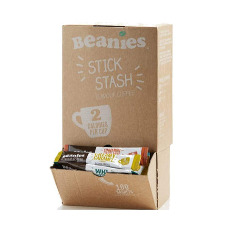 Beanies Flavoured coffee sticks - 100 sticks in a box