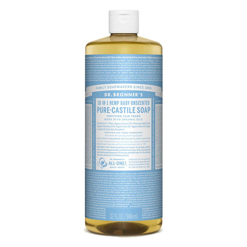 Dr Bronner'S | Baby Castile Liquid Soap | 1 x 946ml Pack of 1