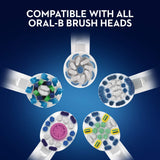 Oral-B Smart 4 4000N CrossAction Electric Toothbrush Rechargeable Powered By Braun, 1 App Connected Handle, 3 Modes with Whitening and Sensitive, Pressure Sensor, 2 Toothbrush Heads, 2 Pin UK Plug White Single Pack