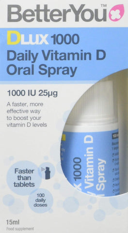 Better You Dlux 1000 Vitamin D Spray 15ml Pack of 1