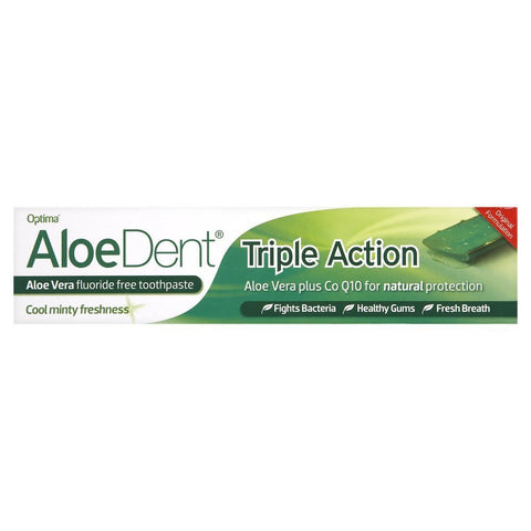 Aloe Dent Triple Action Aloe Vera Toothpaste (Pack of 6)