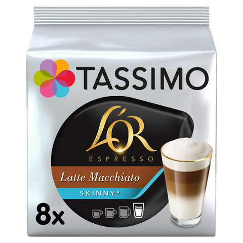 Tassimo L'OR Skinny Latte Macchiatto Coffee Pods, Pack of 5 Skinny Latte Macchiato