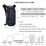 BLF Bike Backpack, Waterproof Breathable Cycling Bicycle Rucksack, 10L Mini Ultralight Biking Daypack Sport Bags Gift for Fitness Running Hiking Climbing Camping Skiing Biking Trekking Black