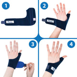 Actesso Neoprene Thumb Support Brace Spica - Splint Helps Relieve Thumb Pain & Injury, Tendonitis of The Wrist, De Quervain's, and Sprains. Left or Right Available (Blue, Right Hand) Blue