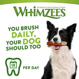 WHIMZEES Natural Dental Dog Chews Long lasting, Small Toothbrush, 30 Pieces 30-Day Pack - Small