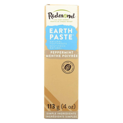 Redmond Earthpaste Natural Non-Flouride Toothpaste, Peppermint, 4 Ounce