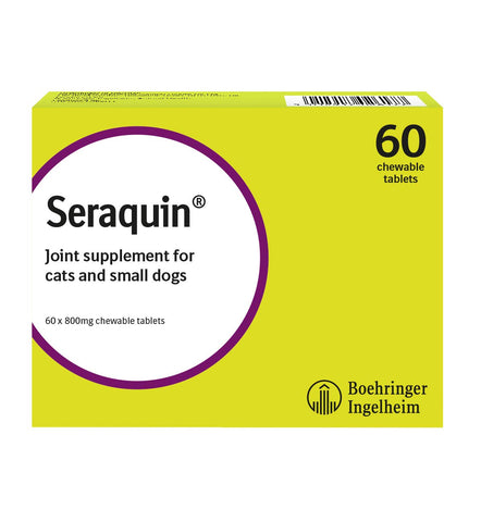 Seraquin Veterinary Joint Supplement with Turmeric, for Cats and Small Dogs 1 Beige