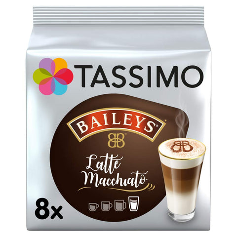 Tassimo Latte Machiatto Baileys Coffee Capsules, Pack of 5 (Total 80 Pods, 40 Servings) Baileys Latte Macchiato