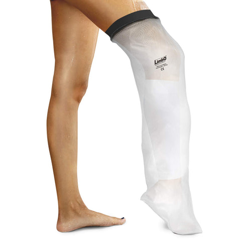 Waterproof Leg Cover, Above Knee Leg Cast & Dressing Protector, Reusable Cast & Bandage Dressing Protection for Shower & Bath, Self-Sealing Cover, Fits Limb Circumference 390-540 mm
