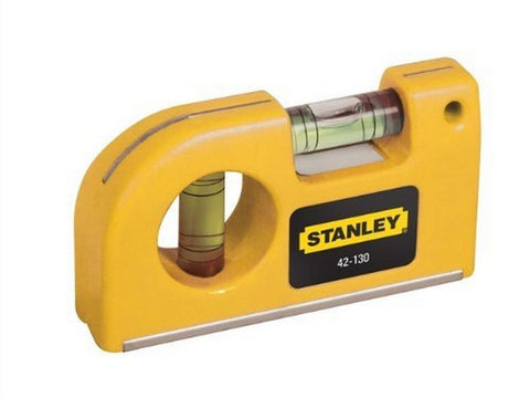 Stanley 042130 Magnetic Horizontal/ Vertical Pocket Level 1 Yellow
