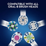 Oral-B Pro 600 CrossAction Electric Toothbrush Rechargeable Powered by Braun, 1 Handle, 1 Toothbrush Head, 2 Pin UK Plug Cross Action