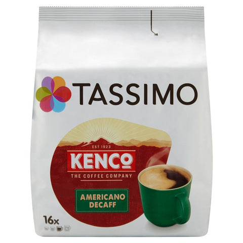 Tassimo Kenco Decaf Coffee Pods (Pack of 5, 80 pods in total, 80 servings) Americano Decaff