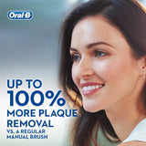 Oral-B Pro 2 2000N CrossAction Electric Rechargeable Toothbrush Powered by Braun, 1 Handle, 2 Modes: Daily Clean and Sensitive, Gum Pressure Sensor, 1 Toothbrush Head, 2 Pin UK Plug Blue Cross-action Single Pack