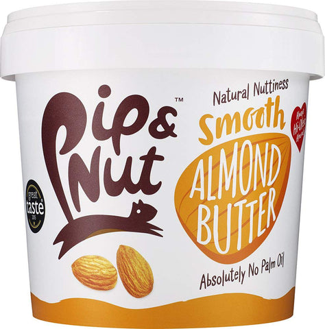 Pip & Nut Smooth Almond Butter – 1kg - Absolutely No Palm Oil – No Added Sugar – Natural Source Of Protein and Healthy Fats