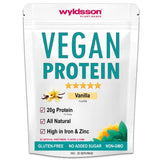 Vegan Protein Powder (1kg) with Vital Minerals | High in Iron | with Organic Plant Protein | Gluten Free (Vanilla) Vanilla