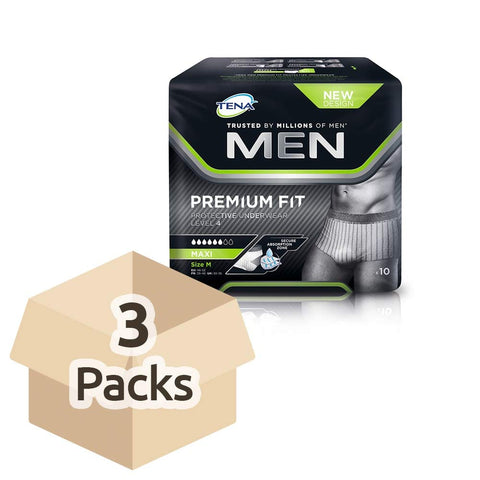 Tena for Men Premium Fit Level 4 - Medium - Case Saver (3 Packs of 10)