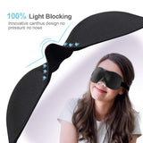 PaiTree Sleep Eye Mask, 2019 New Design Light Blocking Sleep Mask, Soft, Skin-Friendly Eye Mask for Sleeping, Zero-Pressure, Best Blinder for Travel/Sleeping/Shift Work/Meditation Black