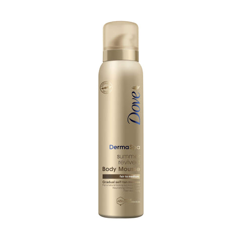Dove DermaSpa Summer Revived Skin Gradual Fake Tan Mousse, For Fair to Medium, For Men And Women, Holiday Essentials 150 ml Fair to Medium Skin