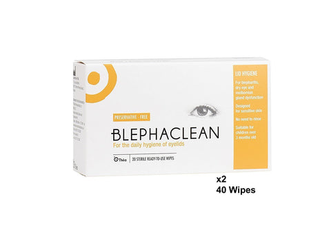 40 Blephaclean Sterile Eyelid Wipes For Blepharitis Freepost