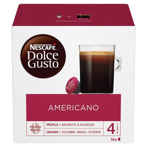 NESCAFÉ DOLCE GUSTO Caffè Americano Coffee Pods, 16 capsules (Pack of 3 - Total 48 Capsules, 48 Servings)