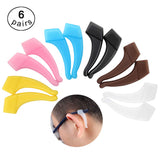 6 Pairs Comfortable Silicone Anti-Slip Holder For Glasses Accessories Ear Hook Eyeglass Temple Tip Sports