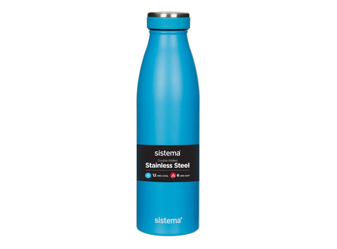 Sistema Stainless Steel Bottle, 500ml (assorted colours) 500 ml