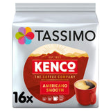 Tassimo Kenco Americano Smooth Coffee Pods (Case of 5, Total 80 pods, 80 servings)