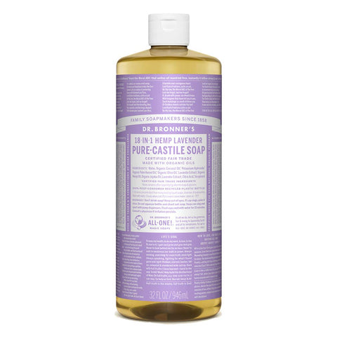 Dr Bronner's 946 ml Organic Lavender Castile Liquid Soap 946ML