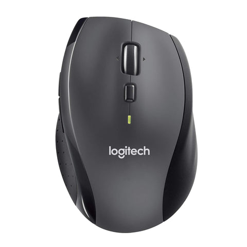 Logitech Marathon M705 Wireless Laptop Computer Mouse, Black Without additional batteries Single