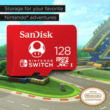 SanDisk microSDXC UHS-I card for Nintendo Switch 128GB - Nintendo licensed Product 2019 Version Red 128 GB