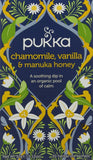 Pukka Chamomile, Vanilla & Manuka Honey, Organic Herbal Tea (4 Pack, 80 Tea bags)