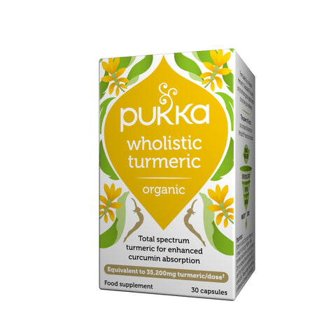 Pukka Herbs Wholistic Turmeric, Organic Herbal Supplement, Pack of 30 Capsules
