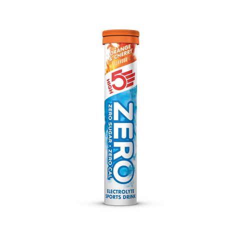 HIGH5 ZERO Electrolyte Hydration Tablets Added Vitamin C - (Orange & Cherry, 20 Tab Tube) Orange and Cherry 20 Count (Pack of 1)
