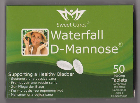 Sweet Cures Waterfall D-Mannose 50 x 1g Tablets