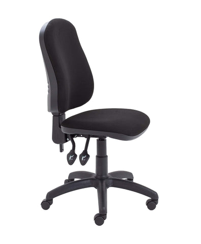 Office Hippo 2 Lever Ergonomic Office Swivel Chair, Fabric, Black