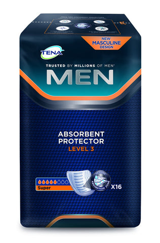 TENA 750830 Men Level 3 Incontinence Pad (Pack of 16)