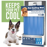 PETIC Cooling Mat For Dogs Large | Durable Cool mat for cats | 50 x 90cm / 19.7 x 34.4inch | Self Cooling Pet Mat for Summer Heat Relief | Non-Toxic Gel Pad