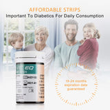 Diabetes Test Strips Blood Glucose Test Strips x 50 & Diabetes Lancets x 50, Codefree Test Strips, Blood Suger Test Strips for UK Diabetics - in mmol/L (Exactive EQ) EQ Strips&Lancets x 50