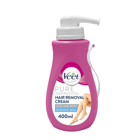 Veet Hair Removal Cream for Sensitive Skin, 400 ml Pack of 1