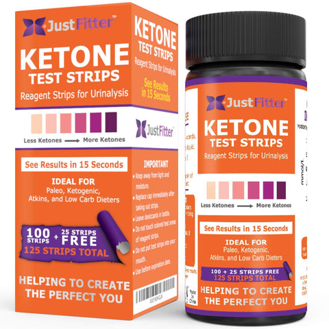 Ketone Keto Urine Test Strips. Look and Feel Great on a Low Carb Ketogenic Diet. Accurately Measure Your Fat Burning Ketosis Levels in 15 Seconds. 125 Strips. 1 BOTTLE