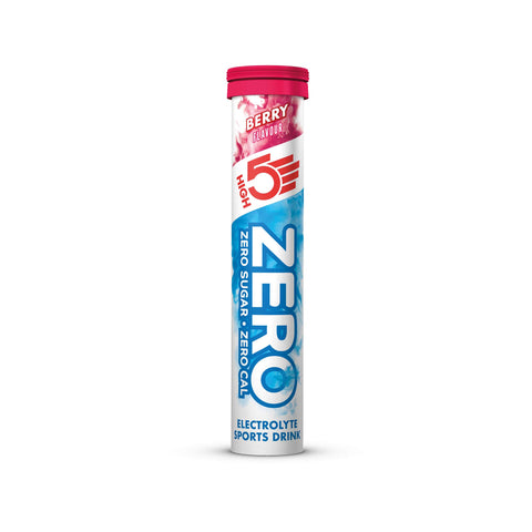 HIGH5 ZERO Electrolyte Hydration Tablets Added Vitamin C - (Berry, 20 Tab Tube) Berry 20 Count (Pack of 1)