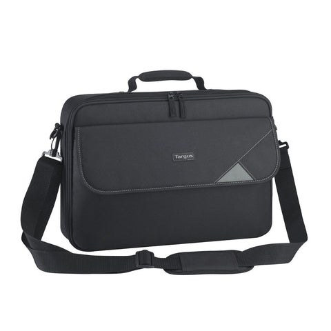 Targus Intellect Business Travel and Commuter Messenger for 16-Inch Laptop Clamshell Case with Shoulder Strap, Black (TBC002EU)