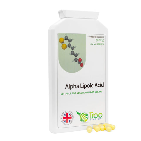 Alpha Lipoic Acid 300mg Supplement - 120 Capsules | 50-50 Blend RALA and SALA | UK Manufactured Tablets | Quality Guaranteed