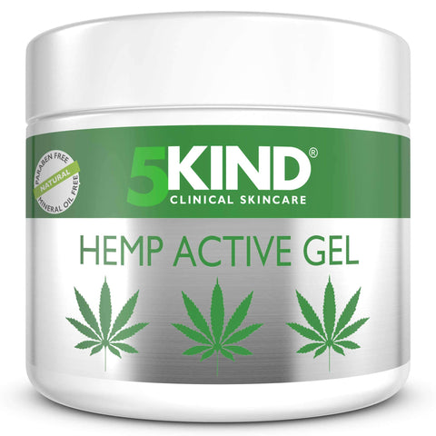 Hemp Joint & Muscle Active Relief Gel- High Strength Hemp Oil Formula Rich in Natural Extracts by 5kind. Soothe Feet, Knees, Back, Shoulders (300ml) 300ml