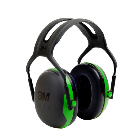 3M PELTOR X1A Ear Defenders Headband, 27 dB, Green Ear Defender