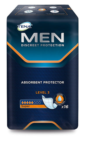 Tena Men Level 3 Pads (6 Packs of 16) 6 Packs of 16