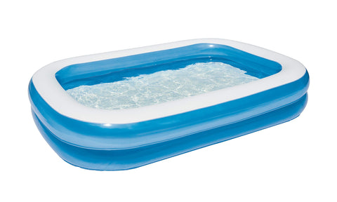 Bestway Family Pool, rectangular pool for children, easy to assemble, blue, 262 x 175 x 51 cm 8.7 ft/262  x 175  x 51 cm